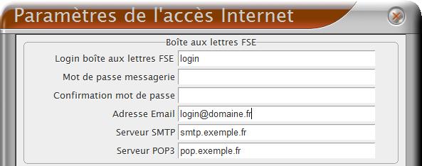 Paramètres de l'accès internet